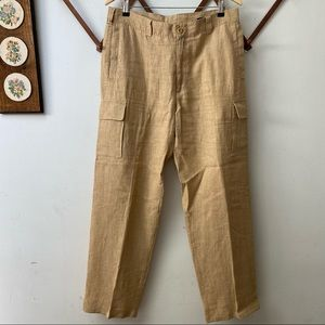 Ermenegildo Zegna Linen Cargo Pants